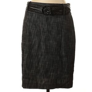 Larry Levine stretch belted pencil skirt 10